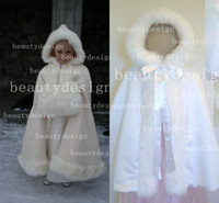 baby cloak cape - 2016 Winter Baby Poncho Ivory and White Stunning Children s Cloaks Faux Fur Ankle Length Perfect For Winter Kids Cape Outwear BO2327