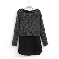 Cheap Casual Women Woolen Shirt Best Women Cotton Chiffon Hemline Long Slee