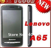 Wholesale Original Lenovo A60 A65 MTK6573 Android dual core G Wifi GPS Russian menu with Free Gift
