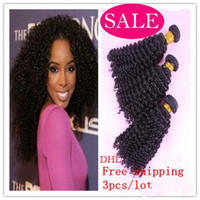 Wholesale DHL A unprocessed virgin Mongolian afro kinky curly weft hair extension human hair weave bundles