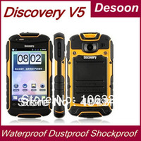 Wholesale In stock Discovery V5 Waterproof Dustproof Shockproof Outdoor Android G Mobile GPS WIFI Compass Light Torch