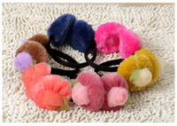 Wholesale 2013 New Arrival Fashion Cute Winter Fur Women s and Children s Ear Muff Flower pattern For years old to Adult per