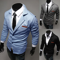 Wholesale Mens Casual Dress Slim Fit Stylish Two Button Suit Blazer Jackets Coats