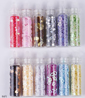 Wholesale Fashion D Nail Star Flower Heart Shape Decoration Mixed Colors Nail Art Caviar Nail Art Bottle Set HAF1