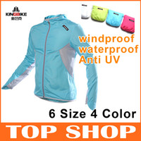Wholesale KINGBIKE Outdoor Cycling Jackets for Season Fashion Quick Dry waterproof windproof Breathable Lovers Clothing Skin windbreaker raincoat