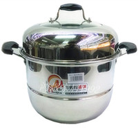 Wholesale Thickening large steamer stainless steel steamer double layer three layer steamer beightening soup pot steamer cooker pot