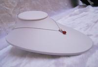 Wholesale Jewelry necklace Display Treachi White leather horizontal mannequin