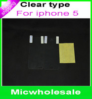 Wholesale for iphone G S S iphone5 front and back Screen Protector Guard Film cover shield front back