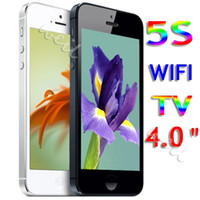 Wholesale WIFI TV HD phone5 V5 with inch touch screen mp3 FM dual camera cell phone WEIL