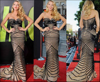 Wholesale Blake Lively Celebrity Red Carpet Gowns Sexy Zuhair Murad Sweetheart Sequins Mermaid Evening Gowns Gossip Girl Dresses Sequined Prom Dresses