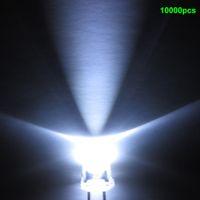 bright white leds - 25000PCS LED mm White Round Water Clear Ultra Bright LEDS LIGHT BEADS LAMP Light Emitting Diode MCD