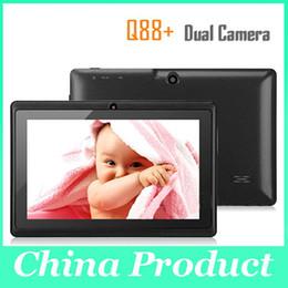 Meilleur cadeau de Noël 7 '' Q88 double appareil photo tablette PC A13 Android 4.0 Tablet PC avec capacitif 512MB DDR3 4GB DHL gratuit 111251
