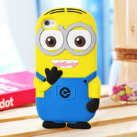 For iphone 5 5S Despicable Me Minions 3D Cartoon Cute Silico...
