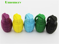 Wholesale real capacity GB GB GB plastic grenade bomb USB Flash Drives thumb Pen drives memory sticks US0099