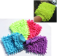 Wholesale Chenille Car Washing Gloves Wash Car tool Brushes Car Clean Gloves
