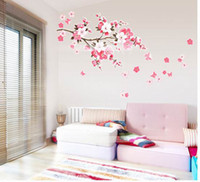 Wholesale Fashhion Sakura Wall Stickers Decals Removable Wall Paster Vinyl Decal Home Decor ZCC2
