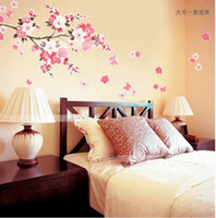 Wholesale Sakura Wall Stickers Decals Removable Wall Paster Vinyl Decal Home Decor ZCC1