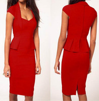Work Vintage Sheath 2013 New Womens fashion Square neck Chic OL Fitted Business Cap sleeve Celeb Party Pencil Bodycon Dresses for wholesale retail Free shipping