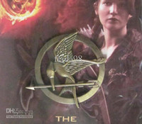 Wholesale off NEW products of The Hunger Games pin Movie Mockingjay Pin Brooch Unisex Breastpin