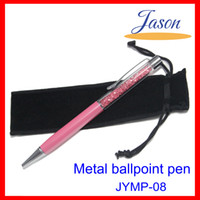 Wholesale DHL crystal diamond pen elegant diamond pen with glaring crystal and velvet bag