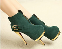 Wholesale New Fashion army green hasp women s boots Ankle boots Martin boots boots knight boots Leisure boots wedding boots bridal boots