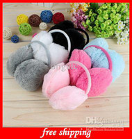 Wholesale Hot Gift New Unisex Soft Fur Fluffy Plush Ear Warmer Muff Band Many Color