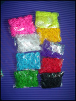 Wholesale Loom band refill pack DIY twis bands hook s clip rainbow band rubber band rainbow loom bands colorful Rubber refill bag