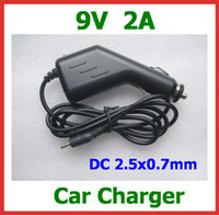 Wholesale 10pcs V A Car Charger for Tablet PC Aoson M19 Pipo M2 M3 M8 M8 G Chuwi V3 SmartQ T19 T20 T30 DC x0 mm