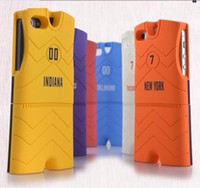 Wholesale fashion NBA football BULLS ROCKETS New York clothes detached in1 case cover skin shell for iPhone S with retail packing