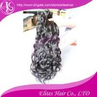 Wholesale Hot sale quot Mixed length Natural Color Virgin Remy indian Human Weft Hair natural wavy IH403