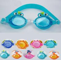 Wholesale Children cartoon silicone goggles waterproof anti fog goggles wearing comfort