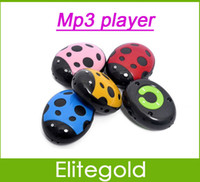 Wholesale Ladybird design MP3 Player Digital Music Player Portable Cartoon Card MP3 Player Support GB TF Card Memory Colors available
