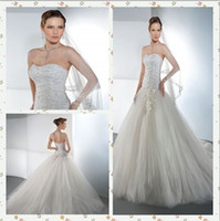 Ball Gown Reference Images Sweetheart Demetrios Strapless bridal gown with a soft, sweetheart neckline Zipper Back and full tulle, Ball Gown skirt