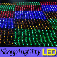Wholesale ultra AC220V LED net light meshwork lamps christmas decoration outdoor ornament Christmas wedding party holiday lighting Led string light