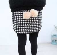 Wholesale Mini Skirt Fashion Casual Short Skirts Kids Clothing Package Hip Skirt Plaid Skirts Children Skirt Girls Cute Flower Skirts Child Clothes