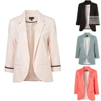 Wholesale Western Style Ladies Slim Work Suit Sleeve Candy Color Blazers Plus Size Cardigan Jackets ZZ1102