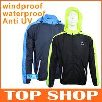 Wholesale ARSUXEO Outdoors Riding Raincoat Unisex Super Slim Waterproof Windproof Anti UV Quick Dry Coat Windbreaker colors Cycling Jacket