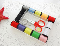 Wholesale Portable Sewing Box Household Needle Thread Scissors Ring Kit Sewing Tools
