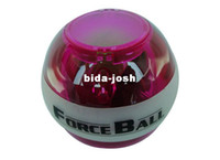 Wholesale A ForceBall PowerBall Gyroscope LED Wrist Strengthener Ball Power Grip Power Spin Ball Freeshipping Colors