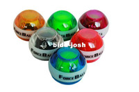 Wholesale AL ForceBall PowerBall Gyroscope Wrist Strengthener Ball Grip Spin Gyro Power Ball WITH Led light Freeshipping Colors