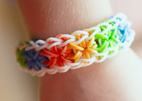 Charm Bracelets   Rainbow Loom kit Loom Rubber Bands Rubber band bracelets Colorful Silicone LOOM BANDS MOQ 100pcs
