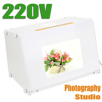 Wholesale 220V EU quot x12 quot Portable Mini Kit Photo Photography Studio Light Box Softbox MK40 size mm DHL