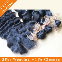 European Hair Straight 8-30inch European Virgin Hair Loose Wave, 3Bundles with 1 Swiss Lace Closure.Can Bleach & Dye,Natural color,free shedding &tangles