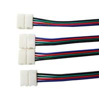 Wholesale 100pcs pins strip connectors PCB adapter mm width SMD RGB strip light