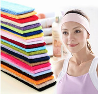 Wholesale Candy color sports Gym Yoga slimming elastic hair head band headband sweatband