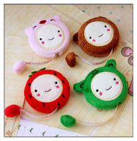 Wholesale Cute Cartoon Retractable Cloth Measure Ruler Tape Plush Sewing Tailor Tool cm inch