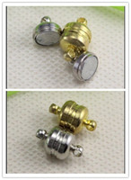 Wholesale 50PCS Antique silver Gold Plated Strong Magnetic Clasps for making Leather Bracelet jewelry findings mm x7mm