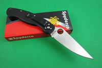 Wholesale Spyderco C36GPE pocket knife Tactical knife CPM S30V blade black G10 handle rescue Camping knife outdoor gear Knife knives