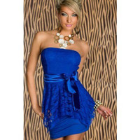 XXL plus size New strapless lace dress Sexy women fashion dresses mini