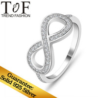 Wholesale Infinity shaped White Cubic Zirconia Ring TR1136 Fashion Jewelry Sterling Silver Rings For Women